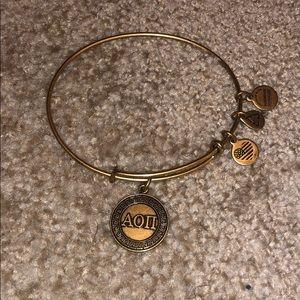 Alex and Ani alpha omicron pi bracelet